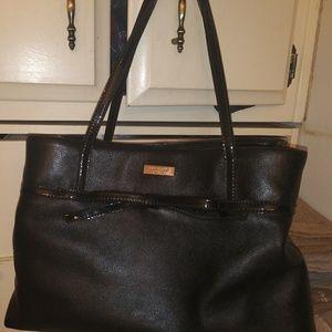 Kate Spade black leather purse bag